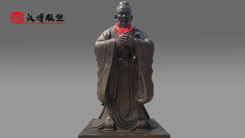 孔子雕像_人物雕塑定制_大型铜雕_名人雕像_雕塑人像