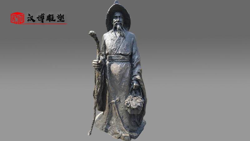 吴道子雕像_人物雕塑定制_铸铜雕塑_人物雕塑定制_铸铜雕塑_历史人物雕像_雕塑订制