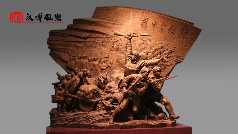 军队人物雕塑_大型雕像_雕像订制_士兵雕像_广场雕像