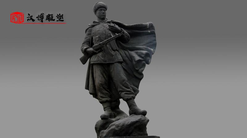 人物雕像_军人雕塑_大型雕像_雕像定制_战士雕像