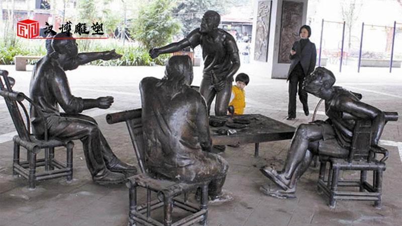 古代人物雕塑_古街雕像_铸铜雕塑定制_户外铜雕制作_民俗文化雕像