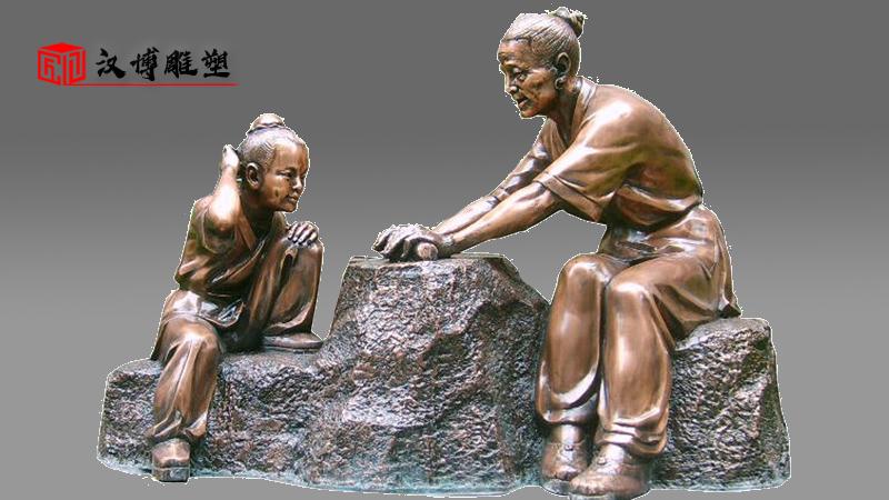 上善若水雕塑_校园景观雕塑_流水主题雕塑_校园雕塑定制_大型景观雕塑