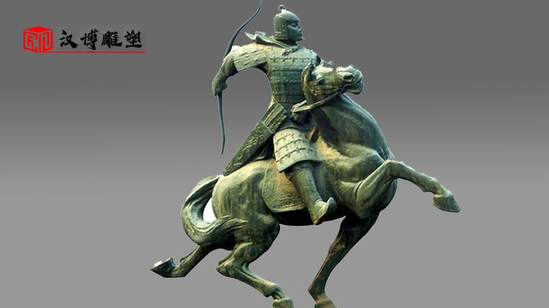 骑马人物雕像_铸铜雕塑定制_大型雕塑_人物雕像_户外铜雕制作