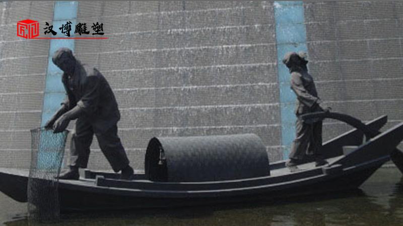 渔民雕塑定制_人物铜雕_铸铜雕塑_广场景观雕塑_大型铸铜雕塑