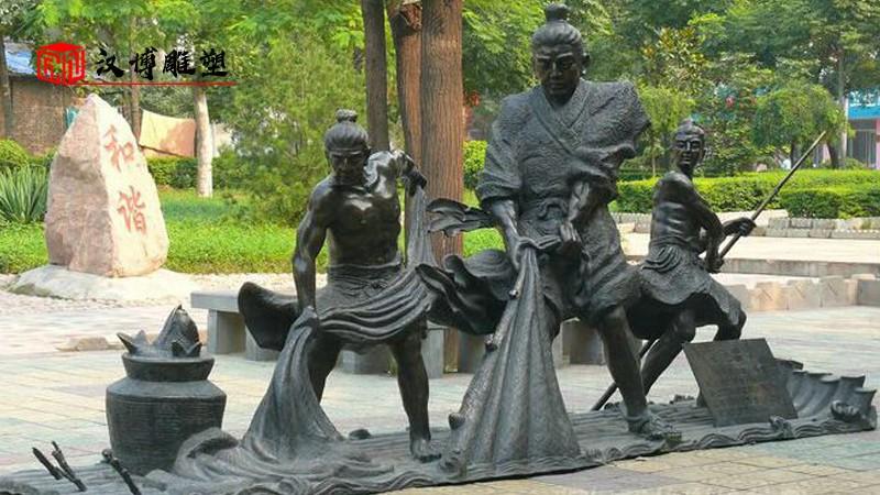 渔民雕塑_人物铜雕_大型雕塑_园林雕塑_雕像定制