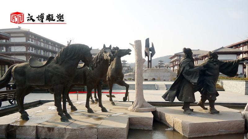马雕塑_铜马雕像_铸铜马雕塑_大型雕塑定制_骑马雕塑制作