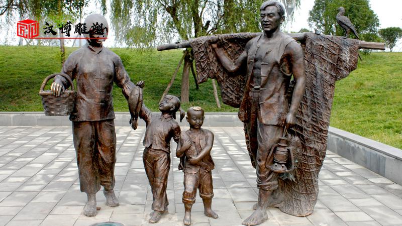 放飞梦想雕塑_玻璃钢雕塑_人物雕塑定制_铸铜雕像定制_和谐社会雕塑