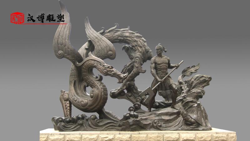 骑马人物雕像_大禹治水雕塑_大型雕塑定制_神话人物雕塑_人物雕塑定制