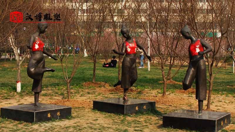 民族团结雕塑定制_少数民族雕塑_人物雕像定制_民族雕塑定制_大型雕像加工