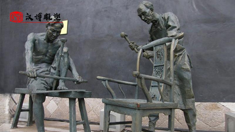 人物雕塑制作_木匠文化雕像_商业街雕塑定制_广场景观雕塑_大型雕塑加工