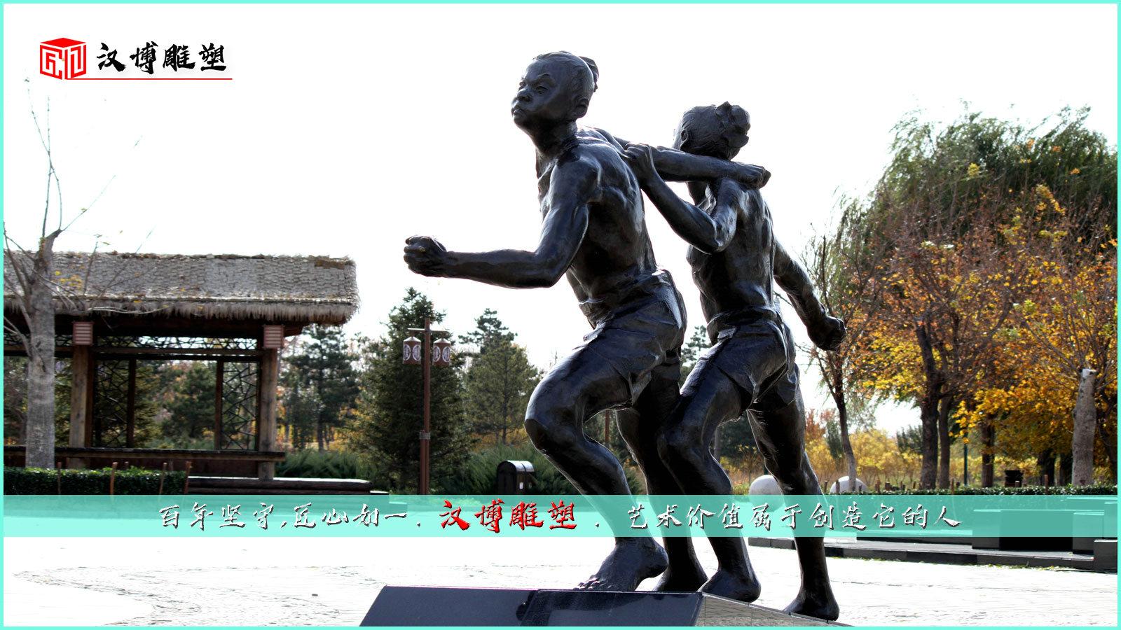 纤夫艺术雕像,诠释人与自然抗争的精神力量