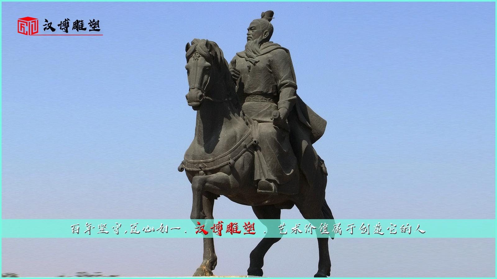骑马人主题雕塑,马似流星人似箭